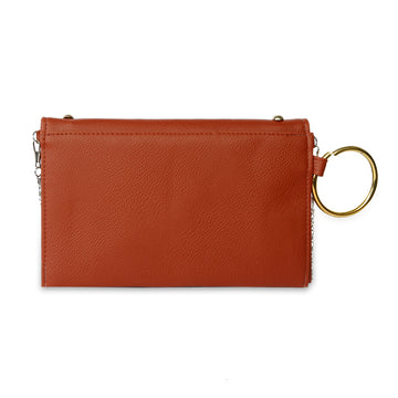Women Fancy Hand Clutch - Coffee