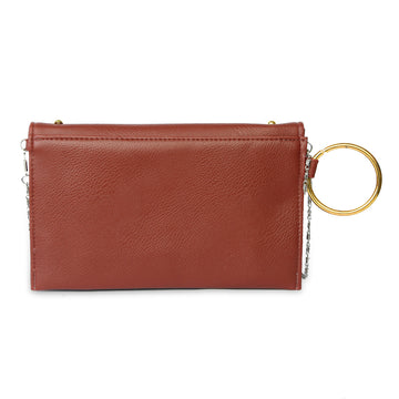 Women Fancy Hand Clutch - Maroon