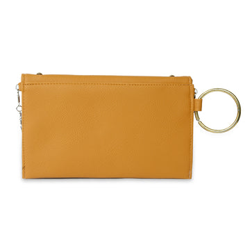 Women Fancy Hand Clutch - Mustard