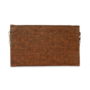 Women Fancy Studs Clutch - Brown
