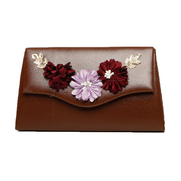 Women Clutch CL-130-Brown