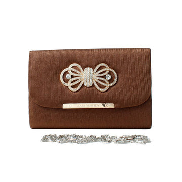 Brown Women Hand Clutch CL-140
