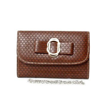 Brown Hand Clutch CL-161