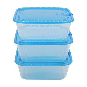 Easy Pack Plastic Storage Box Set Square 3pcs
