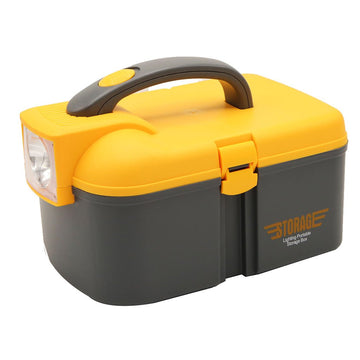 Chase Up Plastic Tool Box W/Torch