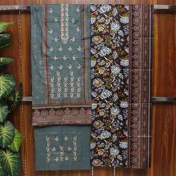 Embroidered Lawn 3pc Unstitched Suit SHL 2B