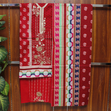 Embroidered Lawn 3pc Unstitched Suit SHL 4C