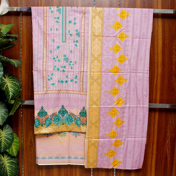 Embroidered Lawn 3pc Unstitched Suit SHL 10B