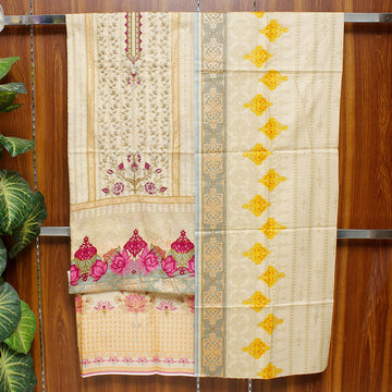 Embroidered Lawn 3pc Unstitched Suit SHL 11A