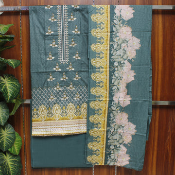 Embroidered Lawn 3pc Unstitched Suit SHL 12B