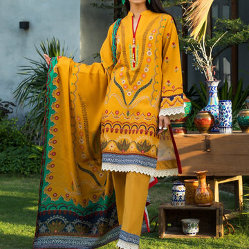 Salina Khaddar Printed 3Pc Unstitched Suit