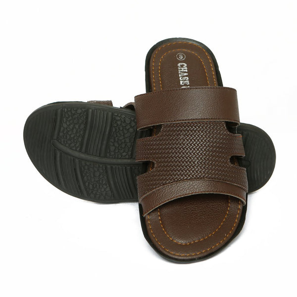 Men Slippers-GL-1764-Brown