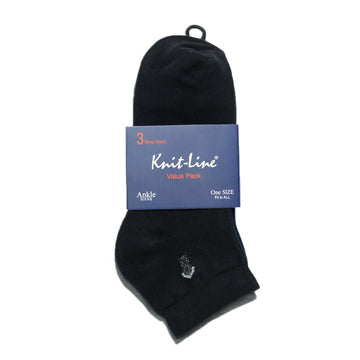 Knitline Men Ankle Cotton Socks Pack Of 3