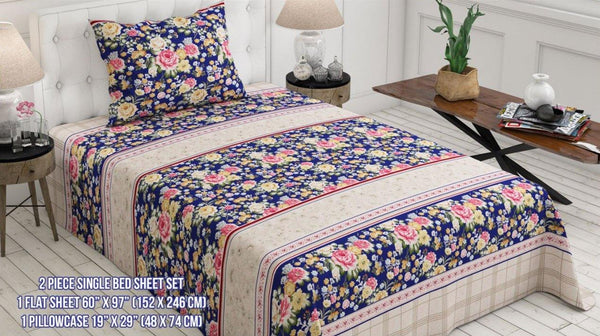 Printed Single Classic Bed Sheet