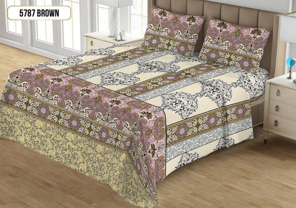 Printed Double Bed Sheet 5787 Pink