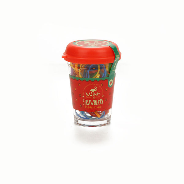 Girls Hair Rubber Band Jar - Strawberry
