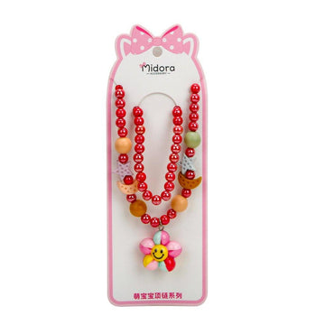 Baby Necklace Set Sunflower - Red