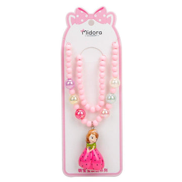 Baby Necklace Set Barbie - Pink & White