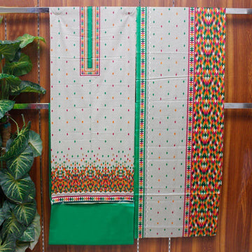 Kasturi Cotton Printed Unstitched 3pc Suit