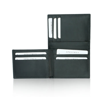 Men Leather Wallet - Black
