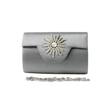 Grey Women Hand Clutch CL-154