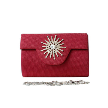 Maroon Women Hand Clutch CL-154