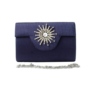 Navy Women Hand Clutch CL-154
