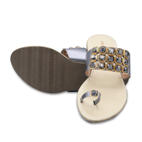 Women Slippers LL-1383 Grey