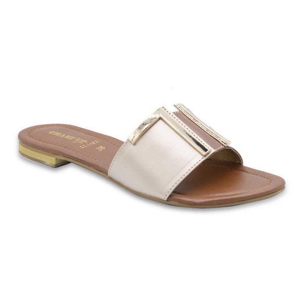 Women Slippers LL-1401 Gold