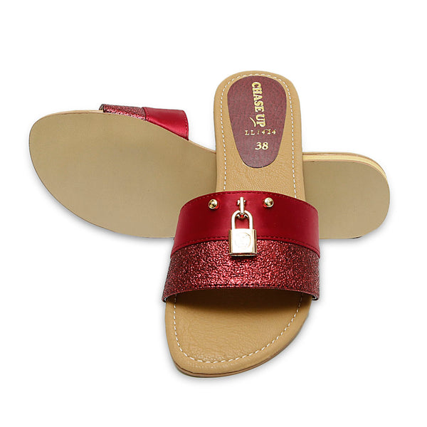 Women Slippers-LL1424 - Maroon