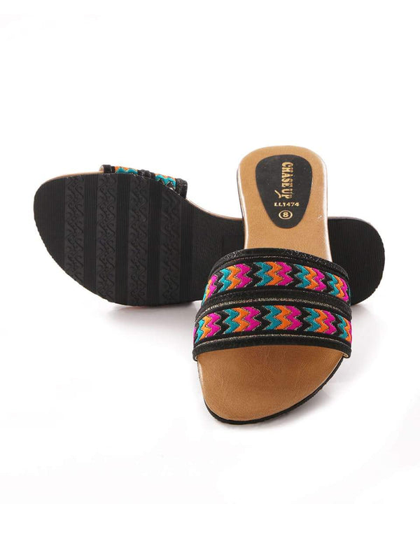Black Women Chappal LL-1474