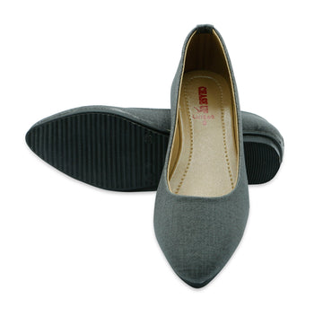 Women Casual Pumps LL1569-Grey