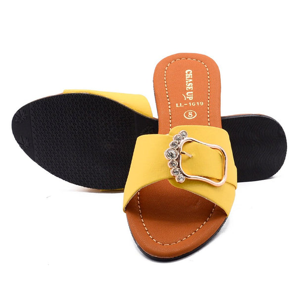 Women Chappal LL-1619 Yellow