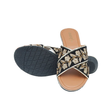 Black Slipper LL-1624
