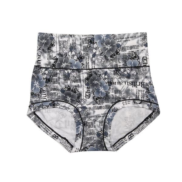 Women Essential Printed Panty - Grey