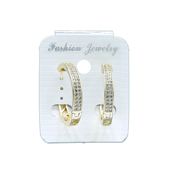 Zircon Hoop Earrings N-10-1