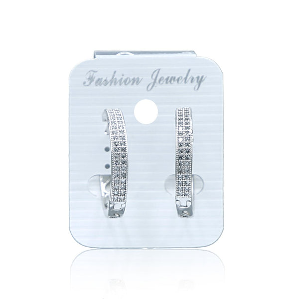 Zircon Hoop Earrings N-10-2