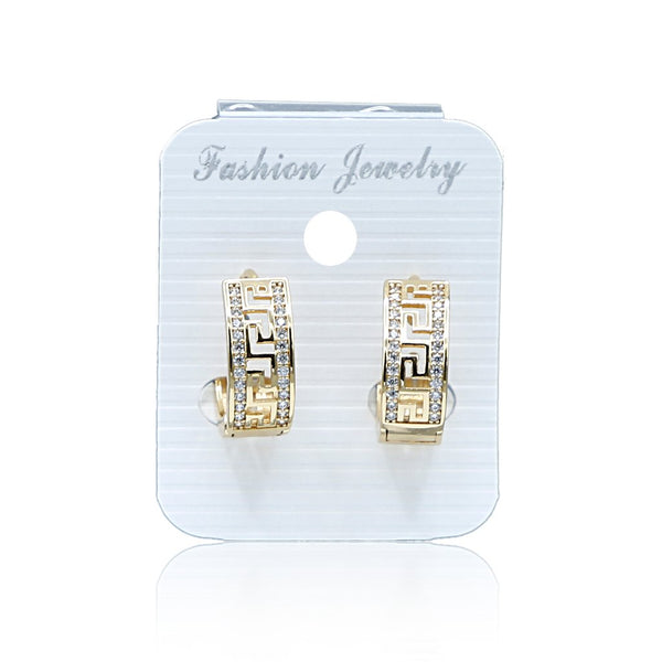 Zircon Hoop Earrings N-7-1