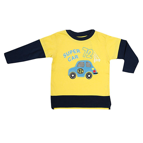 Boys Graphic Tee Crew Neck Long Sleeve