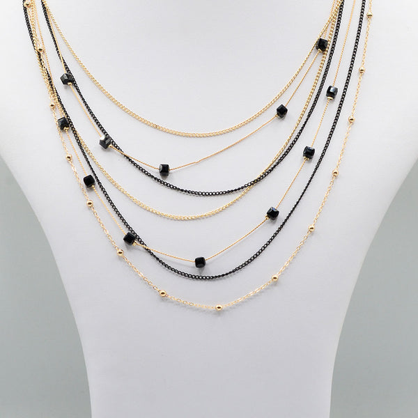 Multirow Casual Necklace  O-13