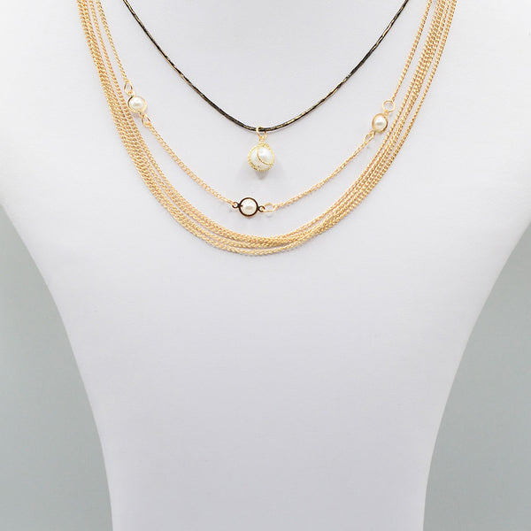 Multirow Casual Necklace  O-15