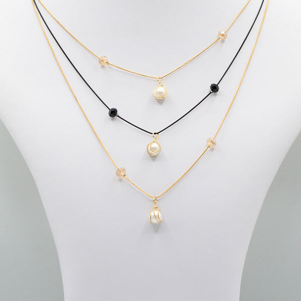 Multirow Casual Necklace  O-19