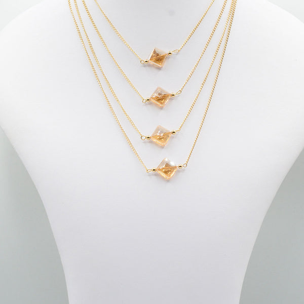 Multirow Casual Necklace  O-8