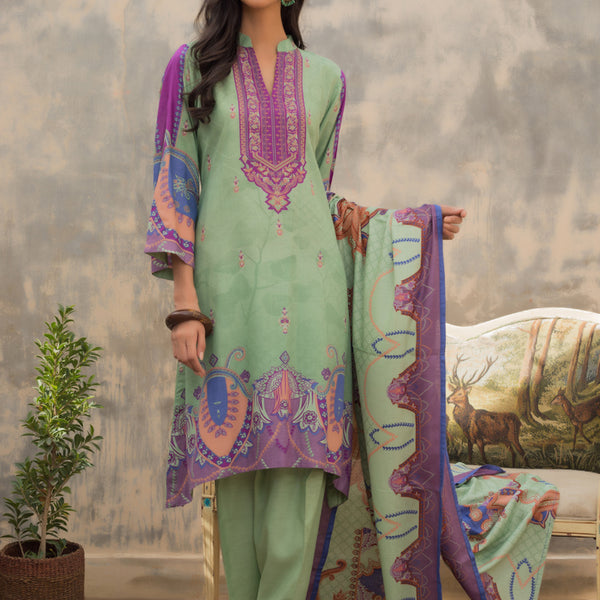 Sahil Printed Cotton Vol-2 Un-Stitched Suit - 10