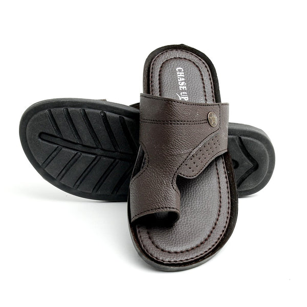 Brown Men Slipper GL-1715