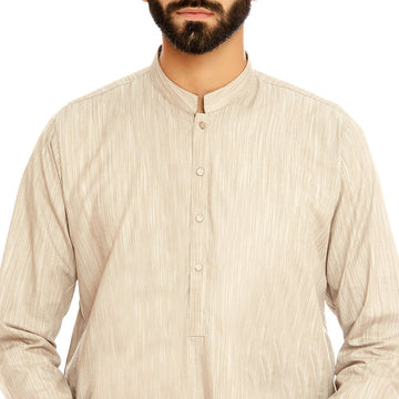 Beige Men Kurta