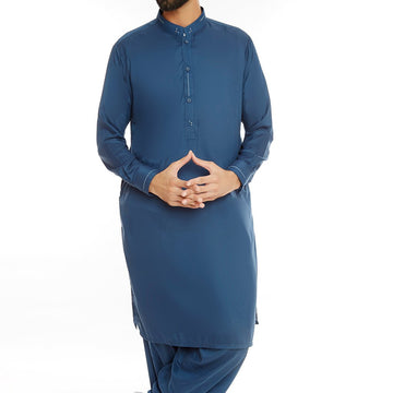 Blue Men Designer Shalwar Suit