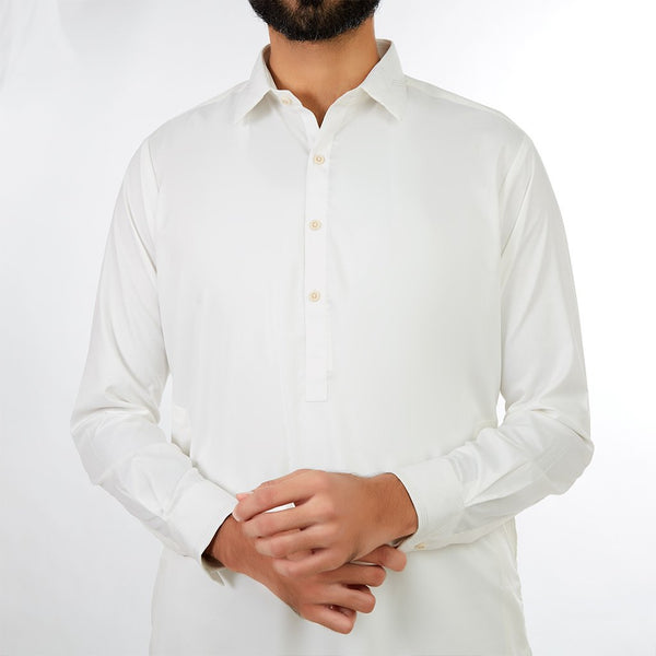 Off White Men Designer Shalwar Suit