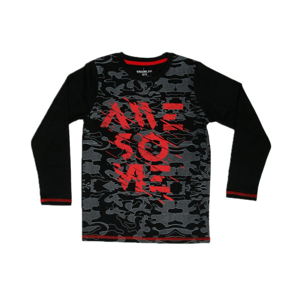 Graphic Tee Crew Neck Long Sleeve