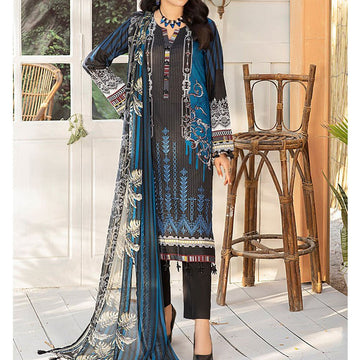 3pc Printed Embroidered Unstitched Lawn Suit